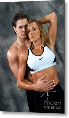 Fitness Couple 27 Metal Print by Gary Gingrich Galleries