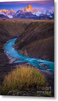 Fitz Roy Dawn   Metal Print