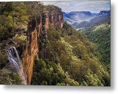 Fitzroy Falls In Kangaroo Valley Australia Metal Print by David Smith