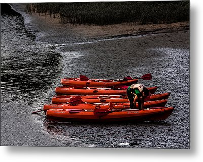Metal Print featuring the photograph Five Boats by Edgar Laureano