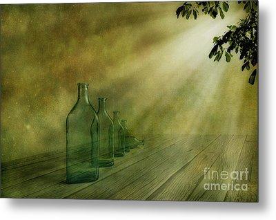 Five Bottles Metal Print by Veikko Suikkanen