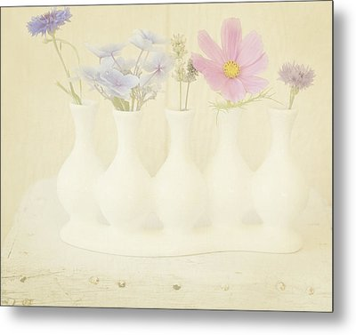 Five Little Bouquets Metal Print by Bonnie Bruno