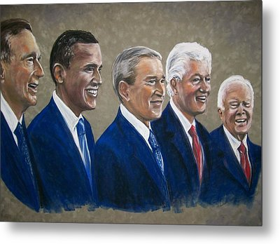 Five Living Presidents 2009 Metal Print by Martha Suhocke