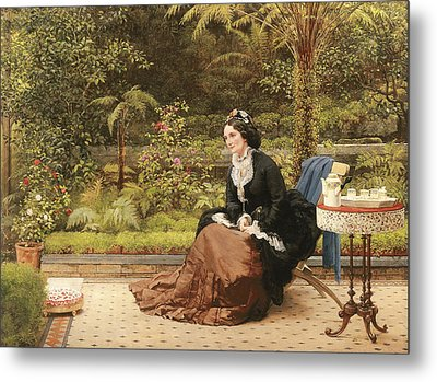 Five Oclock Metal Print by George Dunlop Leslie