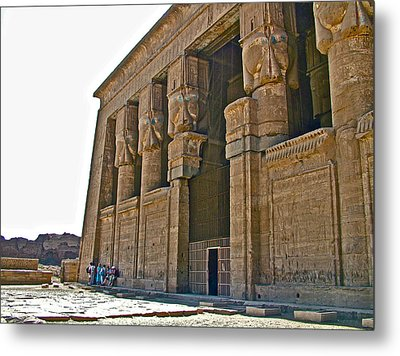 Five Thousand Year Old Temple Of Hathor In Dendera- Egypt Metal Print