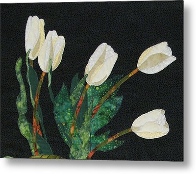 Five White Tulips  Metal Print by Lynda K Boardman