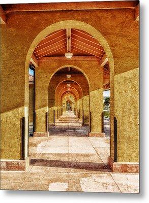 Historic 1927 Train Station - Venice Florida Metal Print by Frank J Benz