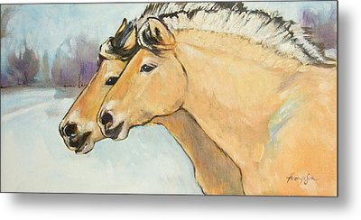 Fjord Race Metal Print by Tracie Thompson