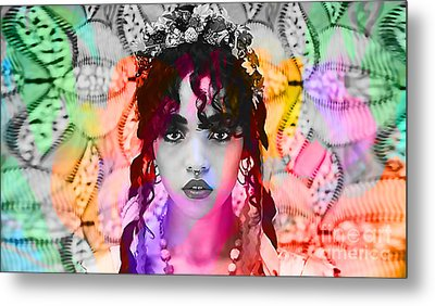 Fka Twigs Painting Metal Print by Marvin Blaine
