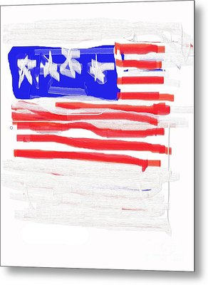 Flag Metal Print by Jay Manne-Crusoe