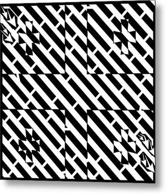 Flag Of Georgia Maze  Metal Print by Yonatan Frimer Maze Artist