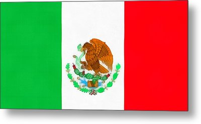 Flag Of Mexico Metal Print by Dan Sproul