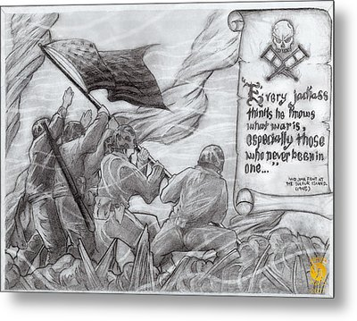 Flag Of Our Fathers Metal Print by Richard Bantigue