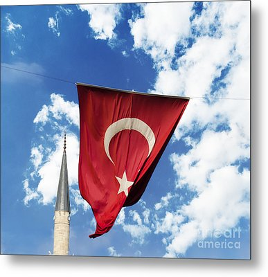 Flag Of Turkey Metal Print by Jelena Jovanovic