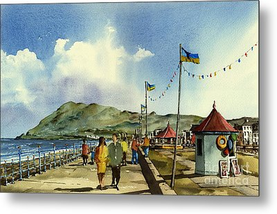 As I Walk Along The Promenade With An Independant Air  ....... Metal Print