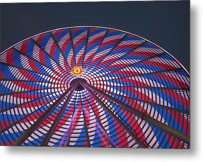 Flag Wheel Metal Print by Darleen Stry