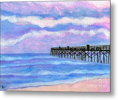 Flagler Beach Pier Metal Print