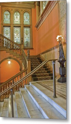 Flagler College Entryway Metal Print by Rich Franco