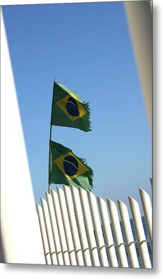Flags In The Wind Metal Print by Frederico Borges