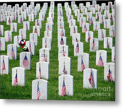 Metal Print featuring the photograph Flags Of Honor by Ed Weidman
