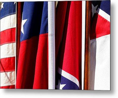 Flags Of The North And South Metal Print by Joe Kozlowski