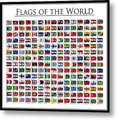 Flags Of The World Metal Print