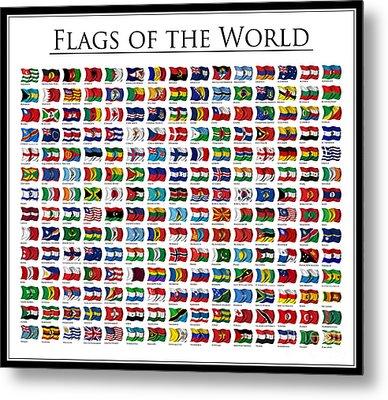 Flags Of The World Metal Print by Carsten Reisinger