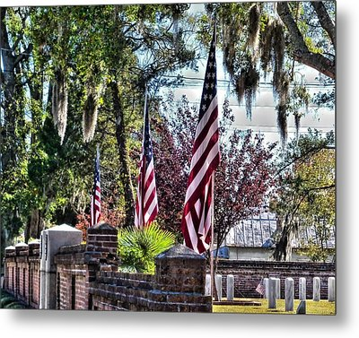Metal Print featuring the photograph Flags That Stand by Victor Montgomery