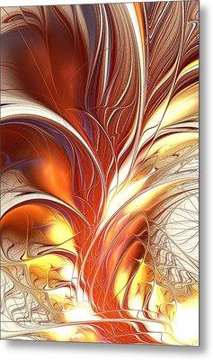 Flame Burst Metal Print by Anastasiya Malakhova