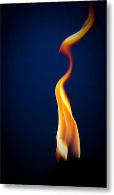 Flame Metal Print by Darryl Dalton