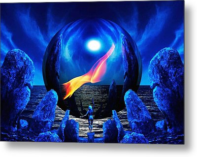 Flame Within... Metal Print by Al Fritz