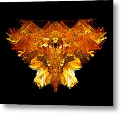 Metal Print featuring the digital art Flame Rider by R Thomas Brass