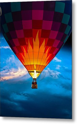 Flame With Flame Metal Print by Bob Orsillo