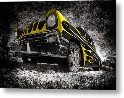 Flamed Chevrolet Bel Air Metal Print by motography aka Phil Clark
