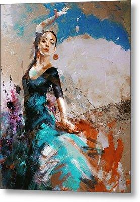 Flamenco 42 Metal Print by Maryam Mughal