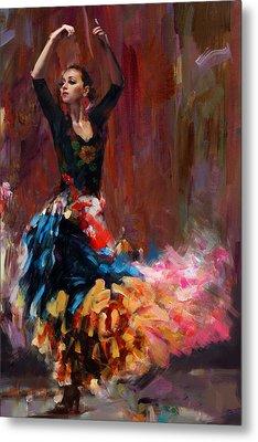 Flamenco 50 Metal Print by Maryam Mughal