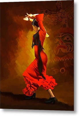 Flamenco Dancer 0013 Metal Print by Catf