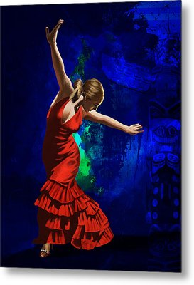 Flamenco Dancer 014 Metal Print by Catf