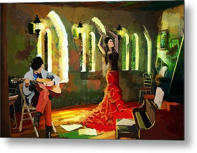 Flamenco Dancer 017 Metal Print by Catf