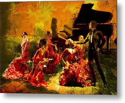 Flamenco Dancer 020 Metal Print by Catf