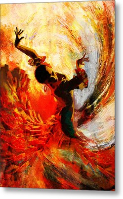 Flamenco Dancer 021 Metal Print by Mahnoor Shah
