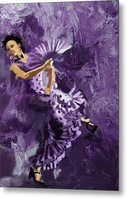 Flamenco Dancer 023 Metal Print