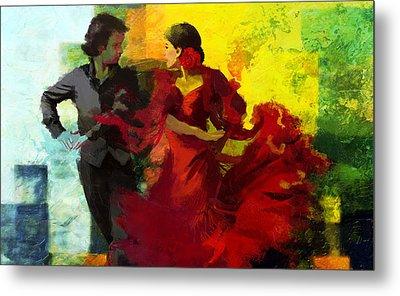 Flamenco Dancer 025 Metal Print by Catf