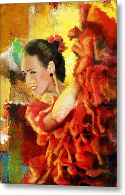 Flamenco Dancer 027 Metal Print by Catf