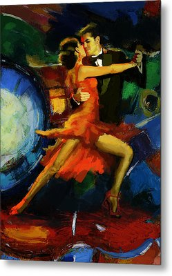 Flamenco Dancer 029 Metal Print