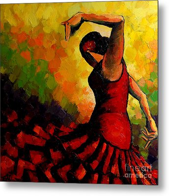 Flamenco Metal Print by Mona Edulesco