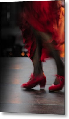 Flamenco Fire Metal Print