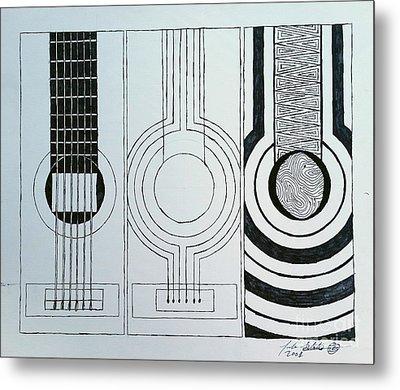 Flamenco Guitar Metal Print