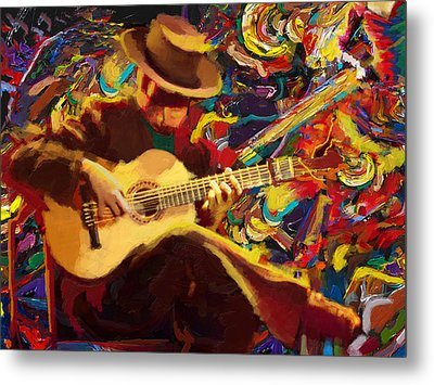 Flamenco Guitarist Metal Print by Corporate Art Task Force