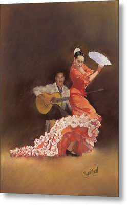Flamenco Metal Print by Margaret Merry
